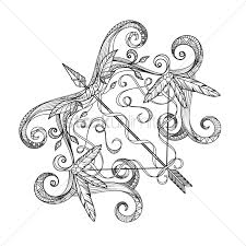 sagittarius zodiac intricate design vector image 1987894