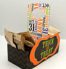 halloween storage halloween treat boxes scrapbooksbydesign