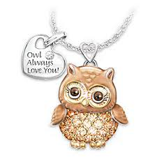 and granddaughter necklace womens necklace granddaughter owl always you pendant necklace