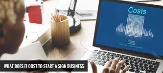 How Much Does A Desk Cost by What Does It Cost To Start A Sign Business
