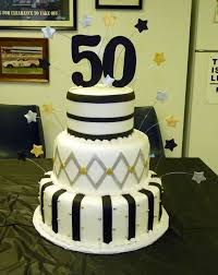 50th birthday cake ideas black silver and gold 50th birthday