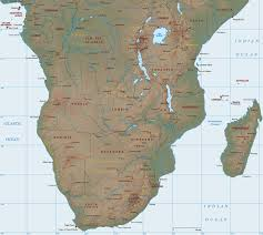 africa map map physical map of southern africa