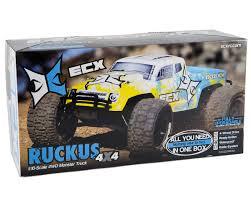 1 24 scale monster jam trucks ecx rc ruckus 1 10 rtr 4wd monster truck ecx03042 cars
