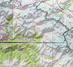 Caucasus Mountains On World Map by Trekking Map In The Georgian Caucasus Terraquest U2013 Mapscompany