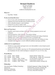 resume sample pipe fitter welder
