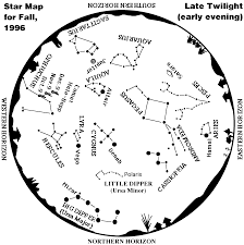 Map Of Constellations Whole Sky Map For Fall 1996