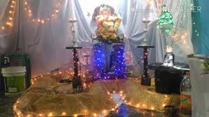 ganpati decoration ideas for home waterfall youtube