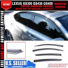 ebay motors lexus gs300 06 11 lexus gs300 gs430 gs450 15mm chrome molding window visor