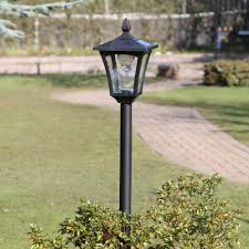 Outdoor Solar Lamp Post by Solar Lamp Post Super Bright Waterproof Column Solar Led Head