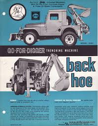 jeep hurricane engine the model 8 bh backhoe for the willys cj5 model was a