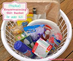 practical housewarming gift basket for under 20 fun home things