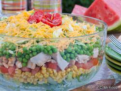 rainbow stacked salad potlucks salad and rainbows