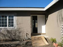 the exterior paint color is dunn edwards bison beige exteriors