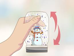 how to make a snow globe with a jar 10 steps with pictures