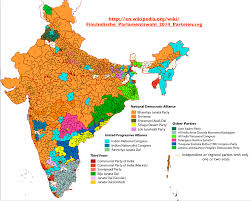 Map Election by Regional Patterns In India U0027s 2014 General Election Geocurrents
