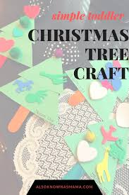 simple christmas tree craft for toddlers also known as mama