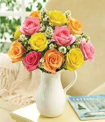 pitcher of roses pitcher of roses assorted at from you flowers