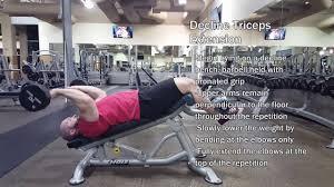 bench decline bench triceps extension decline hammer grip
