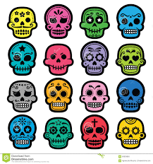 Dia De Los Muertos Halloween Decorations Halloween Mexican Sugar Skull Dia De Los Muertos Cartoon Icons
