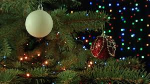 Christmas Light Balls For Trees Christmas Decoration Balls Hanging On Christmas Tree On The