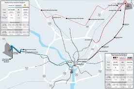 Marc Train Map Taking Transit To The Airport Washingtondc