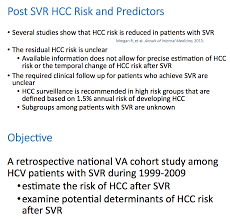 incidence and predictors of hepatocellular carcinoma after