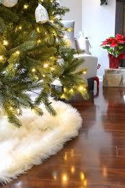 faux fur tree skirt my no sew faux sheepskin tree skirt the duckling house
