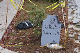 wbir com trump u0027burn in hell u0027 halloween gravestone divides neighbors