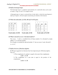 What Is A Truth Table Analog U0026 Digital Integrated Circuits Material Short Answers