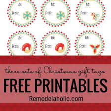 remodelaholic free christmas gift tag printables