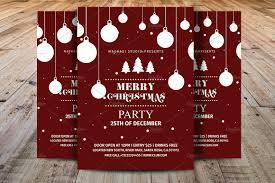 merry christmas party flyer flyer templates creative market