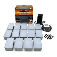 Landscaping Lighting Kits by Kerr Lighting 14 Light Outdoor Paver Light Kit Kpav04 14 088k