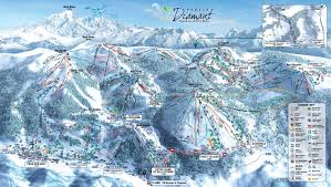 Piste Maps For Italian Ski by Bisanne 1500 Piste Map Skiing Espace Diamant My Chalet Finder