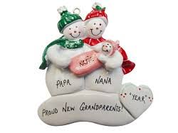 grandparent ornaments personalized personalized christmas ornaments by orinda s originals inc