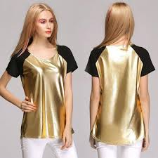 gold blouse plus size blusas femininas 2016 blouse o neck casual t shirt for