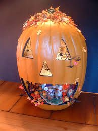 large tall galvanized metal pumpkin halloween fall decoration