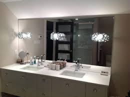 bathrooms design wall vanity mirror with lights illuminated