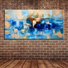 kitchen modern art modern abstract blue oil painting canvas art kitchen canvas knife
