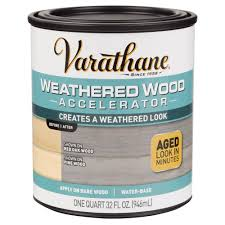 varathane 1 qt weathered wood accelerator 313835 the home depot