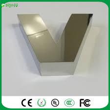 custom metal letters sign advertising 3d mirror stainless steel
