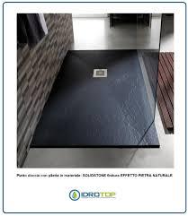 piatto doccia rettangolare 70 x 80 piatto rettangolare in solidstone pizarra di altezza 3 cm