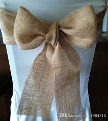 cheap sashes for chairs hot sale vintage style burlap roll wedding decorations chair sash