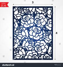 cutout silhouette botanical roses pattern laser stock vector
