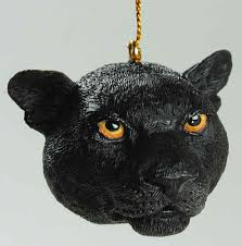 resin animal ornaments black jaguar no box by slavic