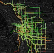 Portland Speed Map by Five Insights About Portland U0027s Bike Network From Early Ride Report