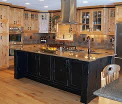 Black Kitchen Wall Cabinets Solid Light Oak Wood Cabinet Kitchens Island Sinks Stainless Steel