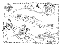 treasure map colouring pages free download