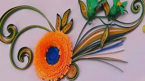 How To Make Easy Paper Flowers For Cards - quilling made easy how to make beautiful orange flower using