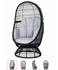Swivel Outdoor Chair B U0026q Metal Egg Swivel Chair Would Love This Sitting On My Decking