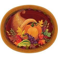 fall platters 12 harvest fall oval paper platters 8ct walmart